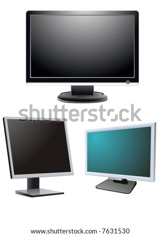 Monitors - stock vector