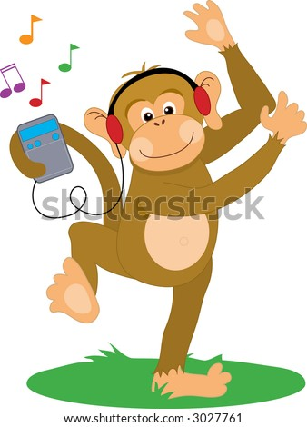 Monkey Dancing To Music