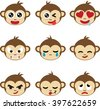 monkey face - stock vector