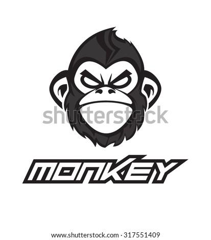 Monkey face - stock vector