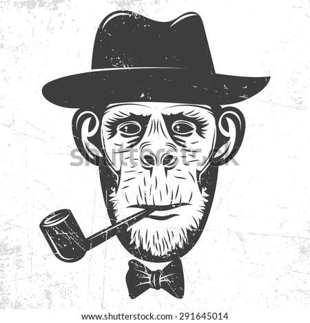 Power Man Caps Funciona Mesmo? No qual Comprar? Vale A Pena ? stock-vector-monkey-in-a-hat-smoking-a-pipe-291645014