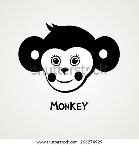 Monkey. Vector Illustration - stock vector