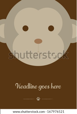 monkey vector poster design template/ layout design/ background - stock vector