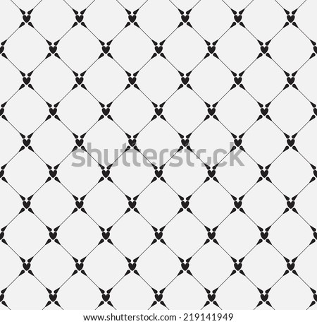 mono heart seamless pattern, vector Endless texture can be used for wallpaper, pattern fills, web page,background,surface