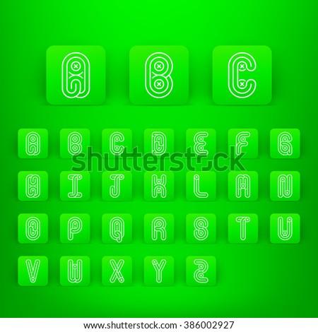 Mono lines style alphabetic fonts capital stock vector 2018 mono lines style alphabetic fonts capital stock vector 2018 386002927 shutterstock altavistaventures Image collections