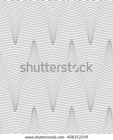 Monochrome abstract striped texture. Seamless pattern for background. - stock vector