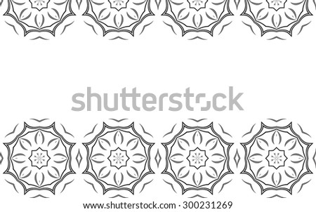 Monochrome background. Black abstract elements on white background. Vector illustrations.