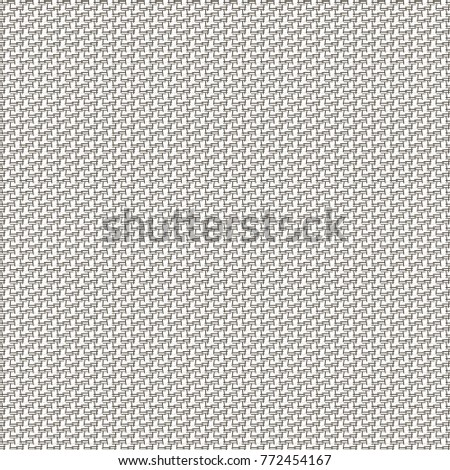Monochrome Background With Fine Geometric Pattern Abstract Canvas Texture Vector Design