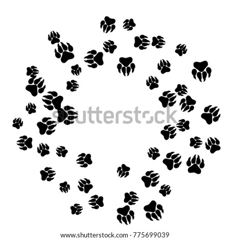Polar bear paw print stock images royalty free images for Bear footprints template