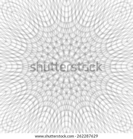 Monochrome circular design vector, decorative abstract geometrical pattern. - stock vector