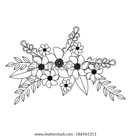 Flower crown stock images royalty free images vectors for Flower crown coloring page