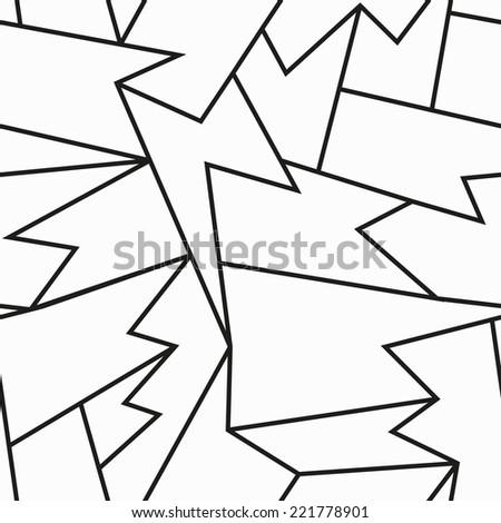 monochrome cracked seamless pattern - stock vector