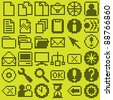 monochrome dot-based icon big set for control screens and web design. more icons are available - stock photo