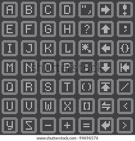 monochrome dot-based keyboard icons set for control screens and web design. more icons are available. vector illustration - stock vector