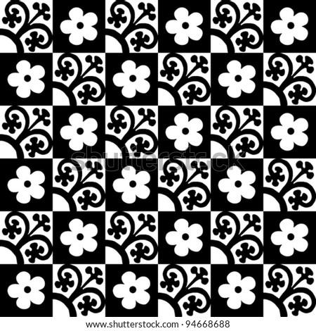 Monochrome geometrical pattern - stock vector
