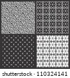 Monochrome geometrical patterns  set (seamlessly tiling)    EPS8 vector - stock vector