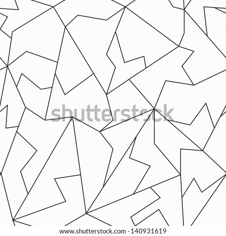 monochrome mosaic seamless pattern - stock vector