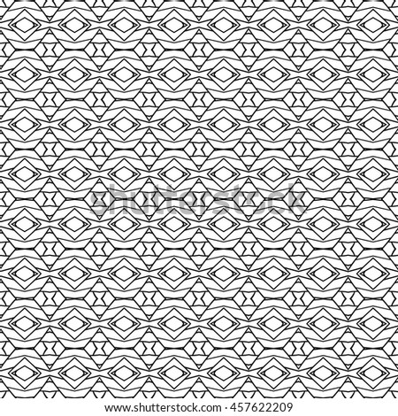 monochrome seamless tribal ornament background, ethnic, pattern swatch included in file, Vector illustration