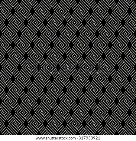 monochrome striped geometric pattern. seamless vector background. - stock vector