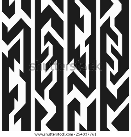monochrome totem seamless pattern