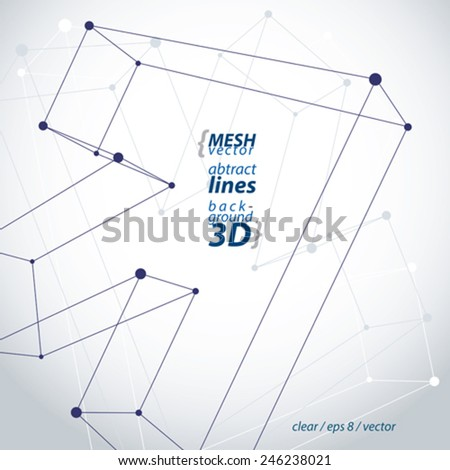 Monochrome trendy 3d mesh arrow isolated on white background, stylish carcass forward pointer icon, clear eps 8 wireframe vector illustration. - stock vector