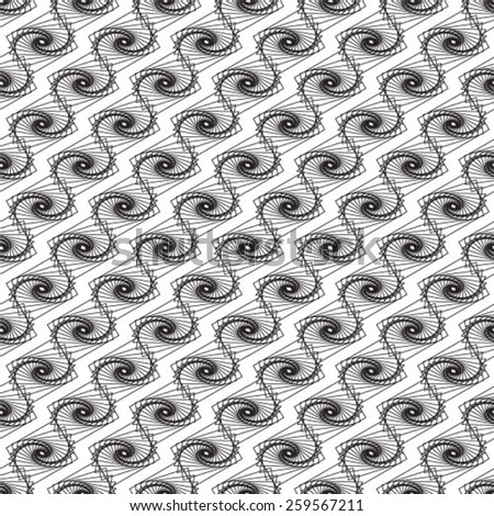 Monochrome visual abstract textured geometric seamless pattern. - stock vector