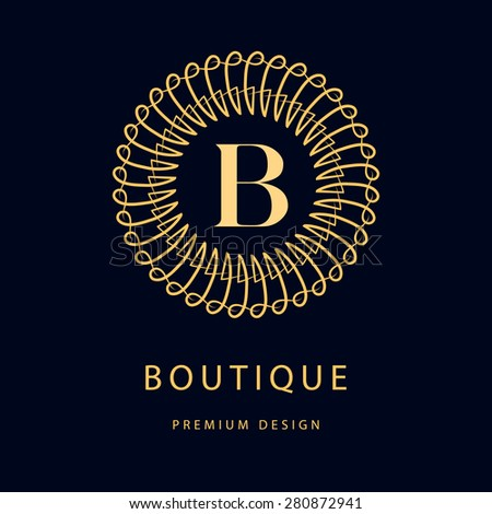 Monogram design elements, graceful template. Calligraphic elegant line art logo design. Business sign, identity for Restaurant, Royalty, Boutique, Cafe, Hotel, Heraldic, Fashion. Vector illustration - stock vector