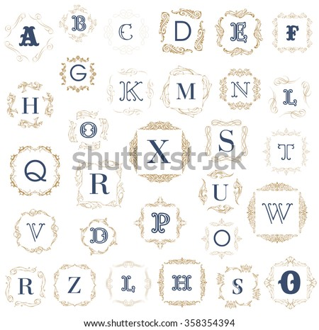 Monogram logo template calligraphic elegant ornament stock vector monogram logo template with calligraphic elegant ornament identity design with letter al pronofoot35fo Images