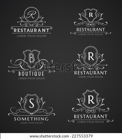 Monogram Logos Set - stock vector