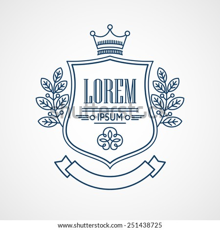 Monogram Logos. Vintage Vector Concepts - stock vector