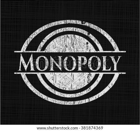Monopoly chalk emblem written on a blackboard - stock vector