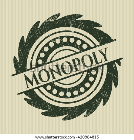 Monopoly grunge seal - stock vector
