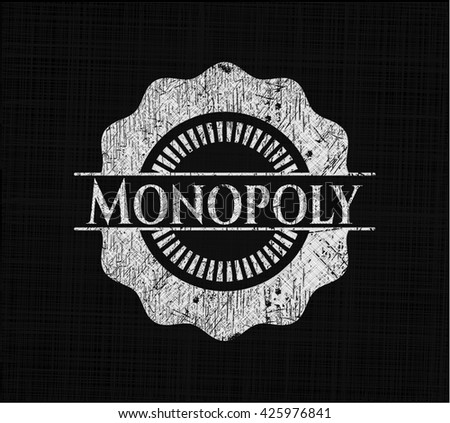 Monopoly with chalkboard texture - stock vector