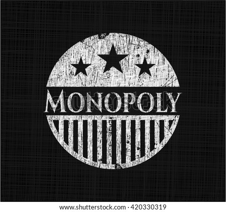 Monopoly written with chalkboard texture - stock vector