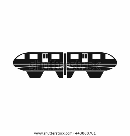 Monorail train icon in simple style isolated on white background - stock vector