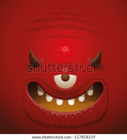 Monster background, vector - stock vector