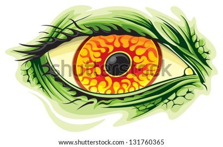 Monster eye - stock vector