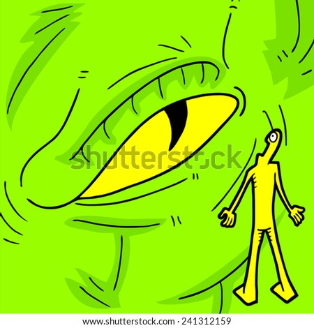 Monster eye - stock vector