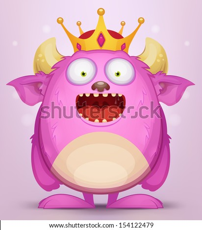 Monster King - stock vector