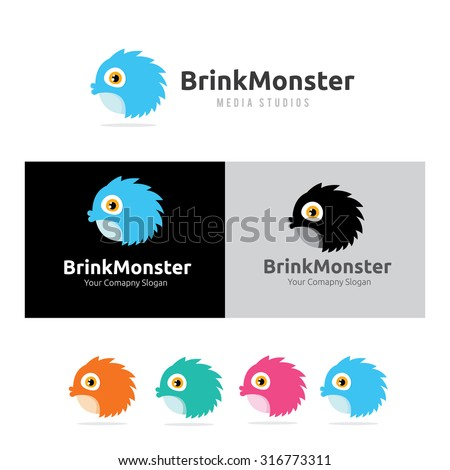 monster logo brink monster bird logo vector logo template stock