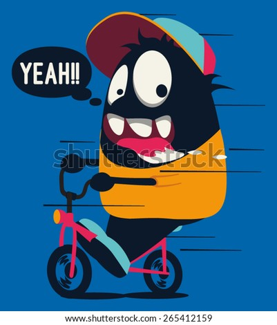 monster on the bicycle