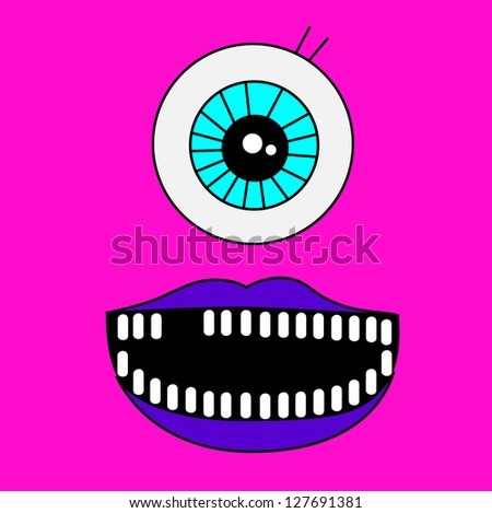 Monster Poster - stock vector