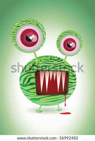 monster thing. Vector character design. - stock vector