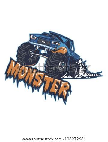 Monster Truck - stock vector