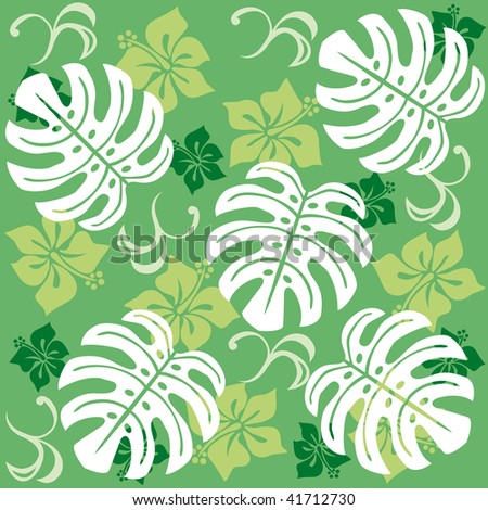 MONSTERA - stock vector