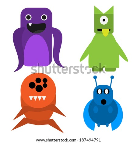 Monsters Vector Illustration