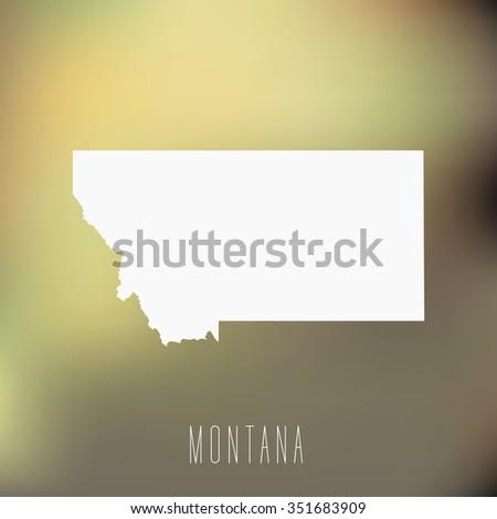 Montana - stock vector