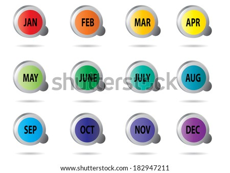 month (icon, sign, symbol).  - stock vector