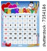 Monthly calendar February - Vector file contains separate layers: US Style, start on Sunday + Europe Style, start in Monday. - stock vector