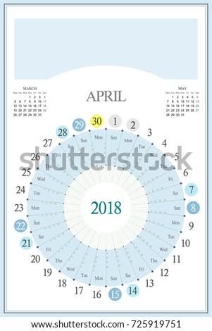 Vertical Calendar 2015 2016 Highlighted Sunday Stock Vector ...
